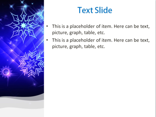 Cold Snowflakes PowerPoint template