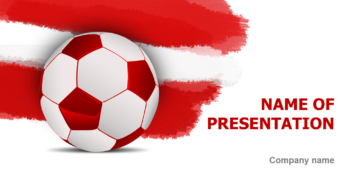 Austrian Soccer Ball PowerPoint template