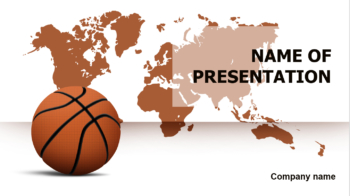 Basketball Map PowerPoint template