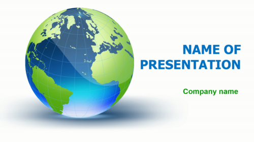 Blue Globe PowerPoint template