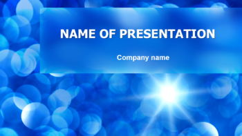 Blue Snowflakes PowerPoint template