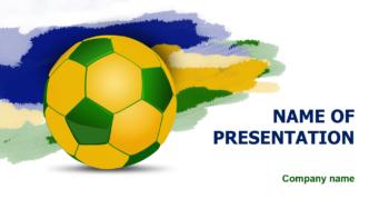 Brazilian Soccer PowerPoint template