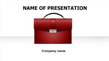 Business Suitcase PowerPoint template