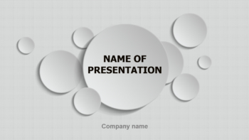 Circles Game PowerPoint template