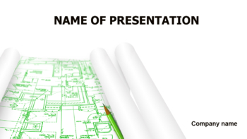 Engineer Drawing PowerPoint template