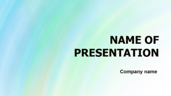 Aquamarine PowerPoint template