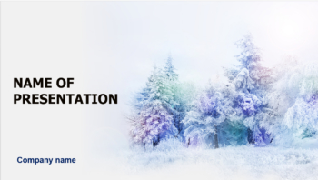 Dreamy Winter PowerPoint template