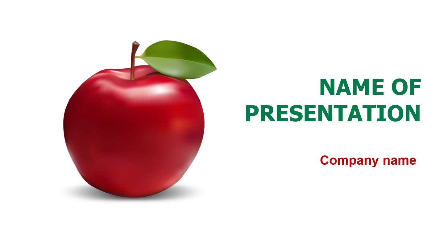 download free fresh apple powerpoint template for presentation