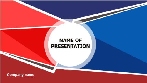 Geometric Shape PowerPoint template
