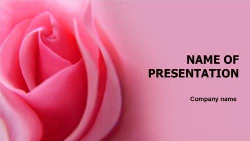 Romantic Rose PowerPoint template