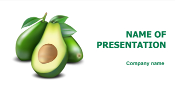 Green Avocado PowerPoint template