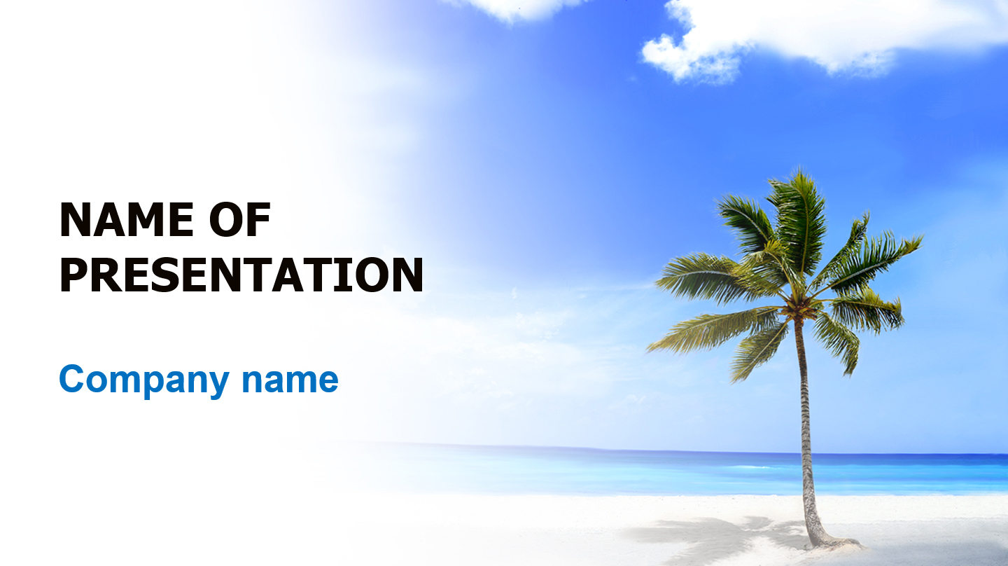 download free green palm powerpoint template for presentation