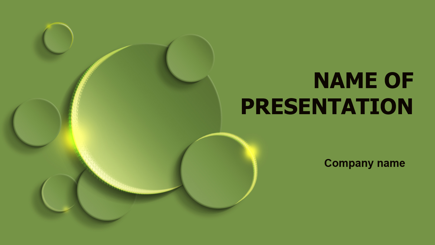 download free green circles powerpoint template for