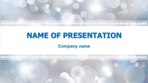 Grey Snowflakes PowerPoint template