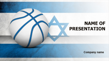 Israel Basketball PowerPoint template