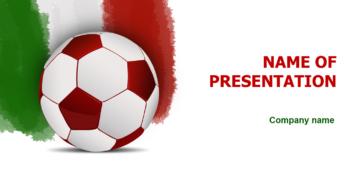 Italian Soccer Ball PowerPoint template
