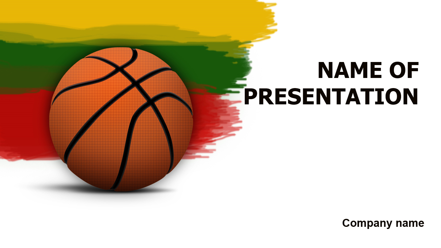 download free lithuanian basketball powerpoint template for presentation