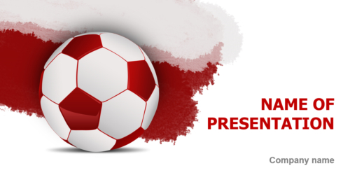 Poland Soccer Ball PowerPoint template