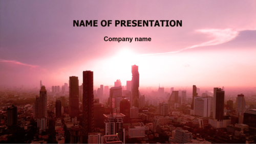 Purple City PowerPoint template