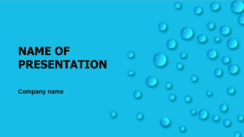 Rain Dew PowerPoint template