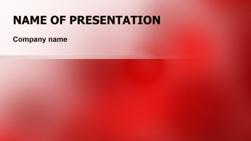 Red Fog PowerPoint template