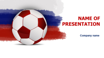 Rusian Soccer PowerPoint template