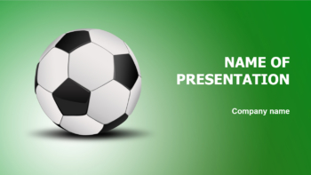 Soccer Ball PowerPoint template