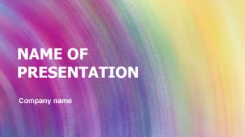 Sweet Purple PowerPoint template
