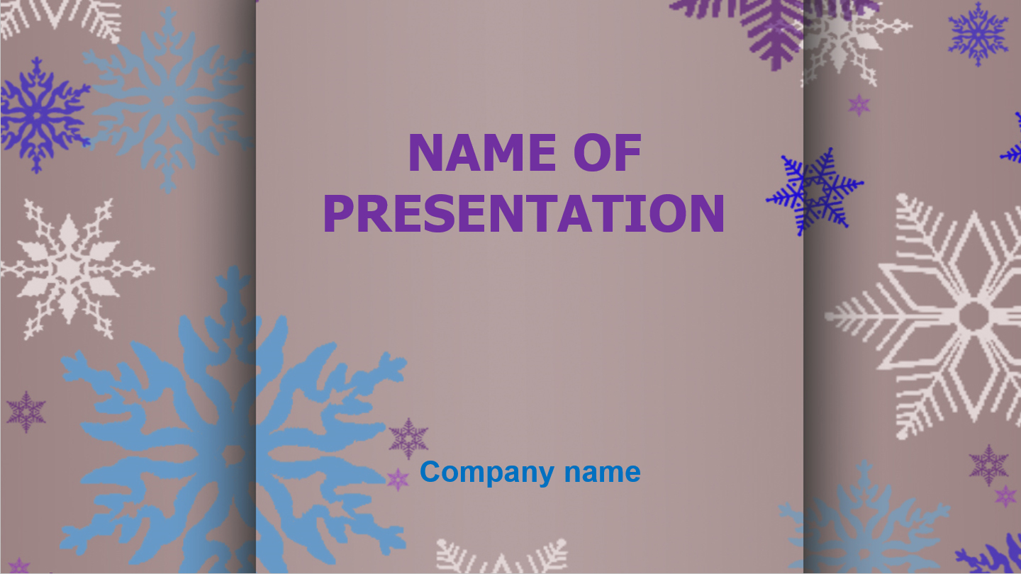 download free winter snow powerpoint template for presentation