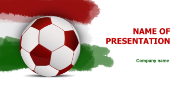 Hungary Soccer Ball PowerPoint template