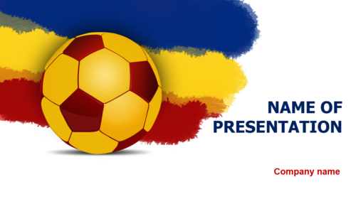 Romanian Soccer Ball PowerPoint template