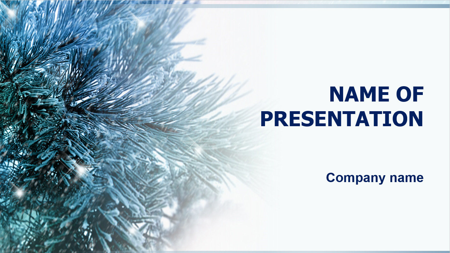 download free snow trees powerpoint template for presentation