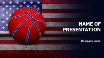 American Basketball PowerPoint template