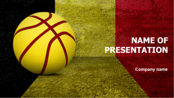 Belgium Basketball PowerPoint template