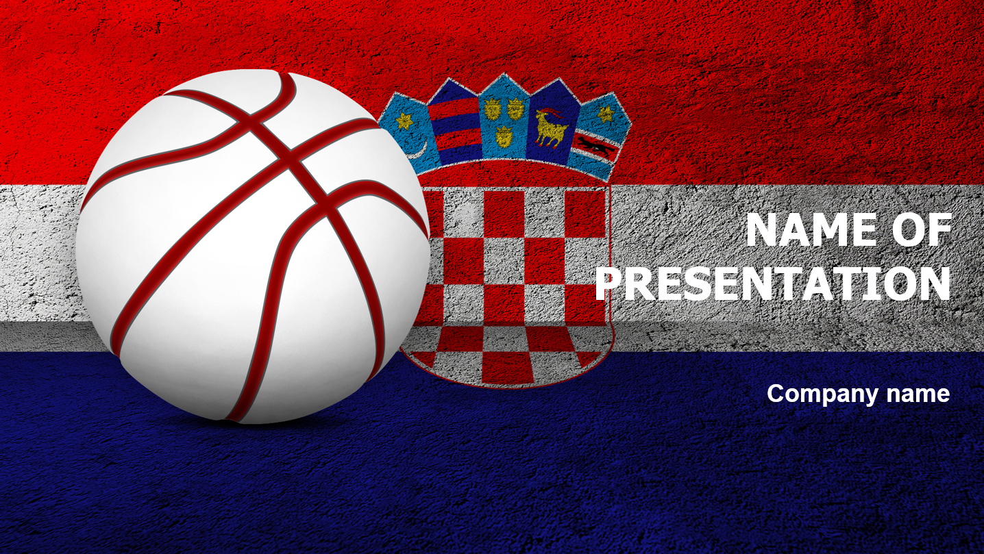 download free croatian basketball powerpoint template for