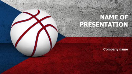 Czech Republic Basketball PowerPoint template