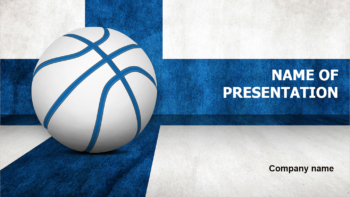 Finland Basketball PowerPoint template