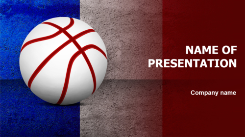 France Basketball PowerPoint template