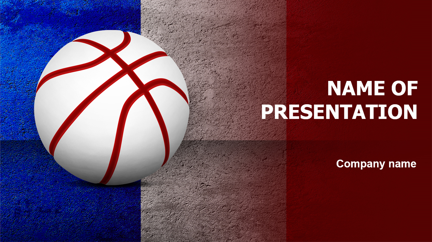 Download Free France Basketball Powerpoint Template For