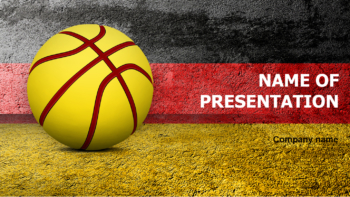 Germany Basketball PowerPoint template