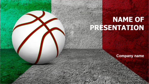 Italy Basketball PowerPoint template