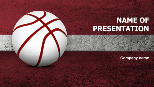 Latvian Basketball PowerPoint template