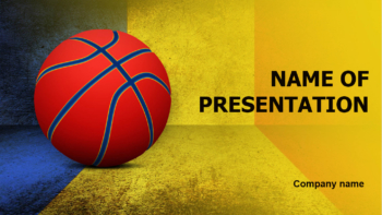 Romanian Basketball PowerPoint template