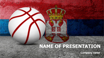 Serbian Basketball PowerPoint template