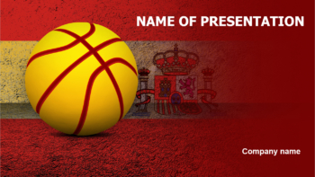 Spain Basketball PowerPoint template