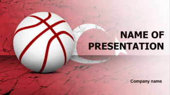 Turkey Basketball PowerPoint template