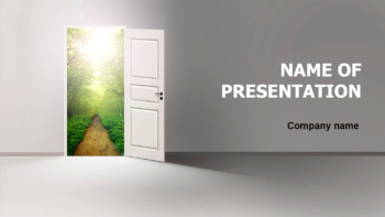 Door To Growth PowerPoint theme