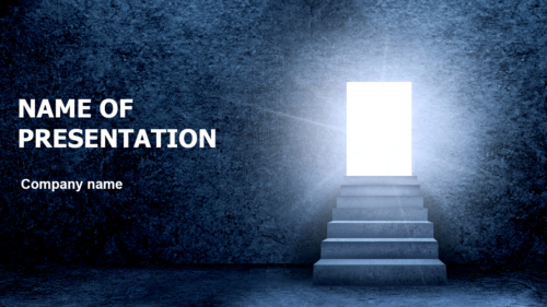 From Darkness To Light PowerPoint theme