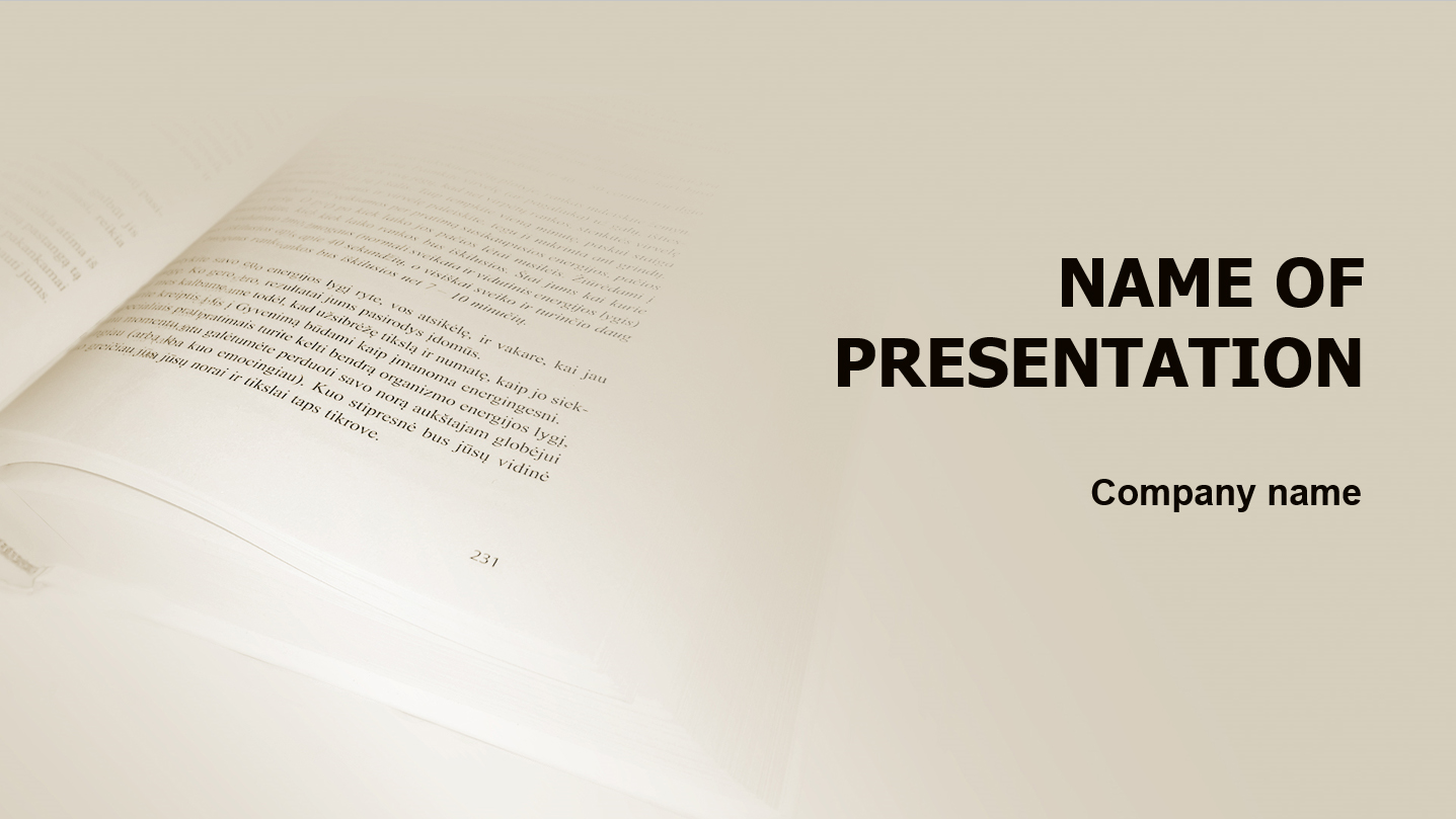 Good Writers powerpoint template presentation