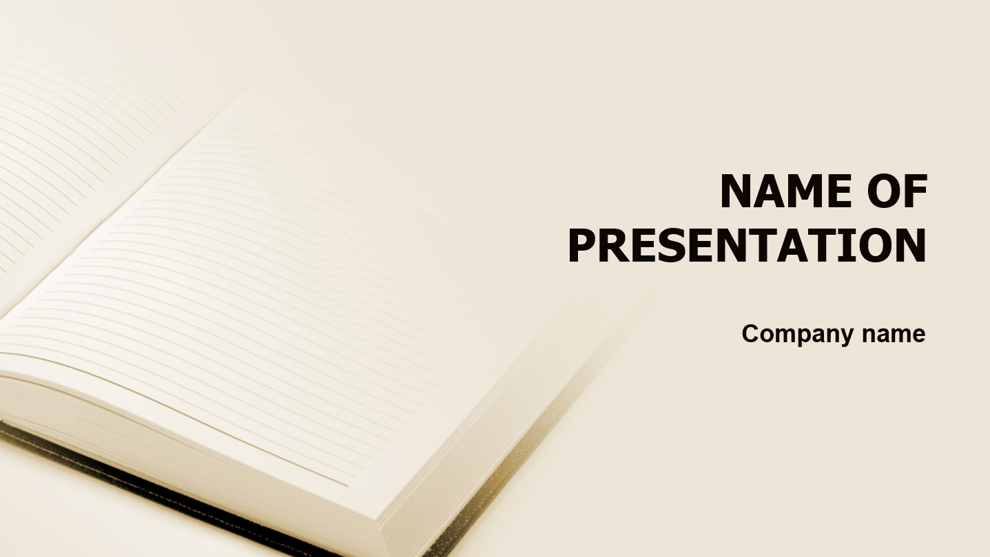 New Pocketbook powerpoint template presentation